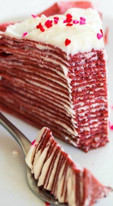 """креп-торт """"Красный бархатный"""""""