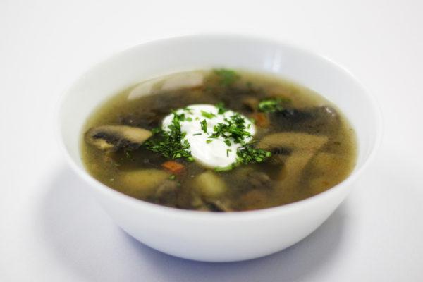 грибной суп с мясом фото рецепт
