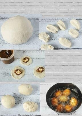 пончики со сгущенкой фото рецепт