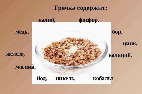 гречка калорийность