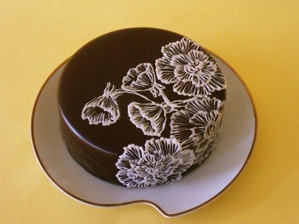 Украшение торта шоколадом своими руками
