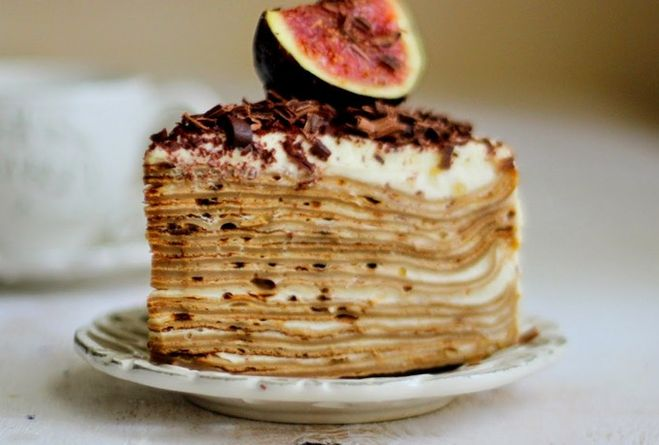 "Блинный торт ""Тирамису"""