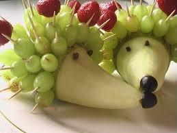 Как сделать Ежика из овощей фруктов своими руками мастер-класс