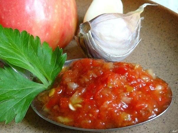 Аджика из кабачков и чеснока рецепт